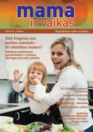 """Žurnalas """"Mama ir vaikas"""" 2015 m. ruduo"""