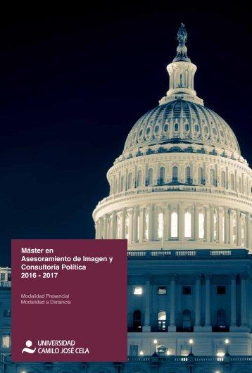 Folleto master en asesoramiento de imagen y consultoria politica CIGMAP UCJC 2016-17