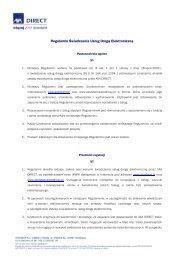 Regulamin Świadczenia Usług Drogą Elektroniczną