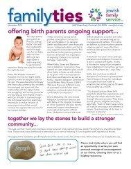 Jewish Family Service Family Ties November 2015