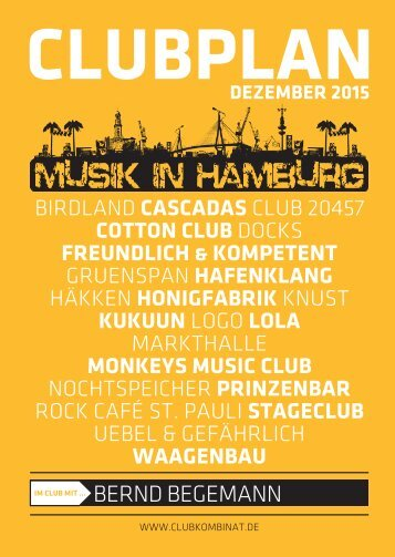 Clubplan Hamburg - Dezember 2015