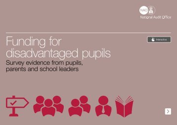 Funding for disadvantaged pupils