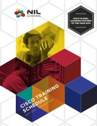 Cisco and CWNP Training Schedule- July 2015 - January 2016