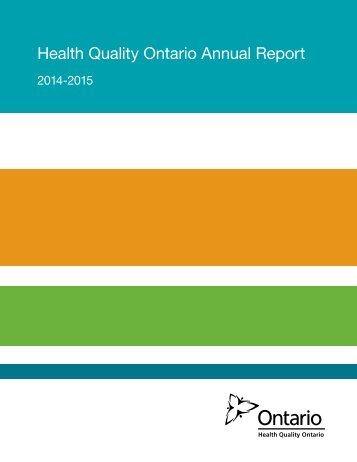 Health Quality Ontario Annual Report