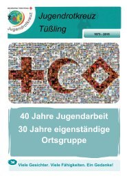 Chronik 40 Jahre JRK Tüßling
