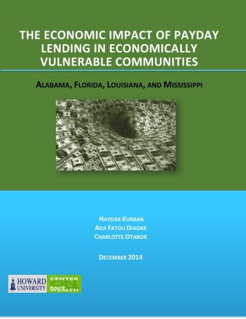 LENDING IN ECONOMICALLY VULNERABLE COMMUNITIES