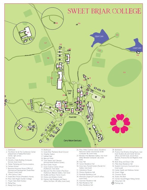 Sweet Briar College Campus Map