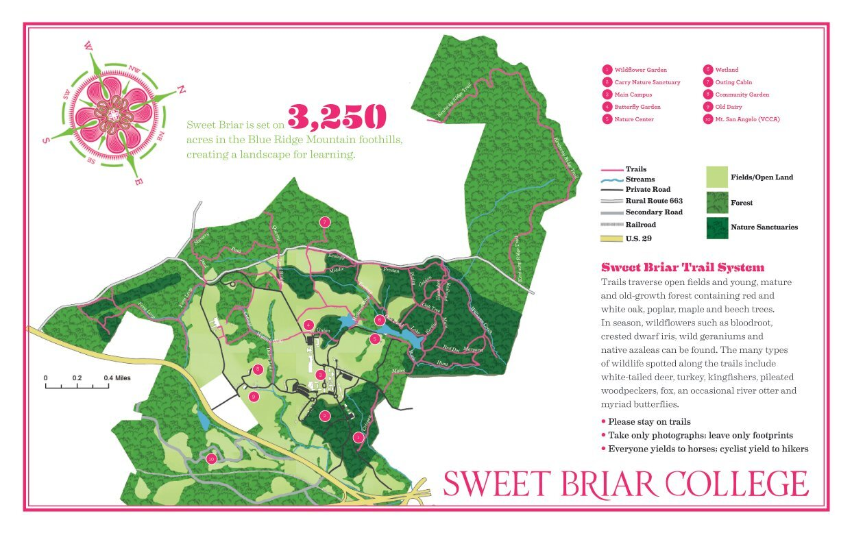 sweet briar campus map Trails Sweet Briar College Sweet Briar Outdoor Program