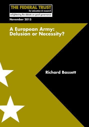 A European Army Delusion or Necessity?