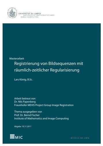 3 Registrierung von Bildsequenzen - Institute of Mathematics and ...