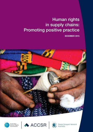 Human rights in supply chains Promoting positive practice