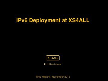 IPv6 Deployment at XS4ALL