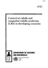 Control of rubella and congenital rubella syndrome (CRS