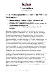 Pressemeldung Techem Energieeffizienz in über 10 Millionen Wohnungen