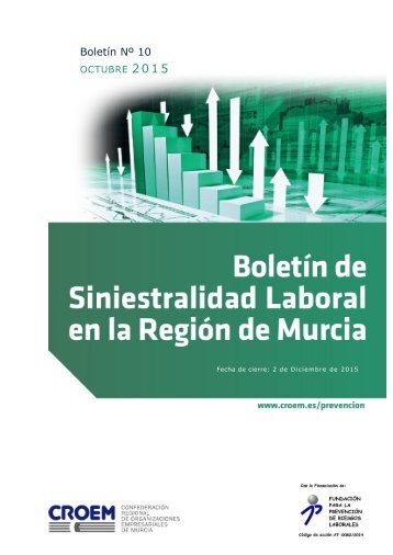 Boletín de Siniestralidad Laboral - Octubre 2015