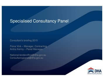 Specialised Consultancy Panel