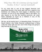 Why Does The US Continue Giving Saudi Arabia A Pass - Gerard Santinelli - Page 5