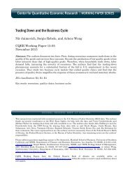 Center for Quantitative Economic Research Trading Down and the Business Cycle