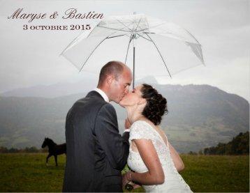 Livre Photos Mariage Maryse et Bastien