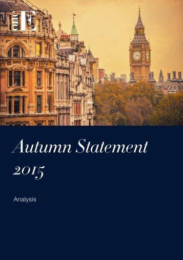 Autumn Statement - Analysis