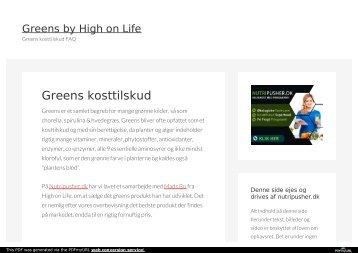 greens kosttilskud