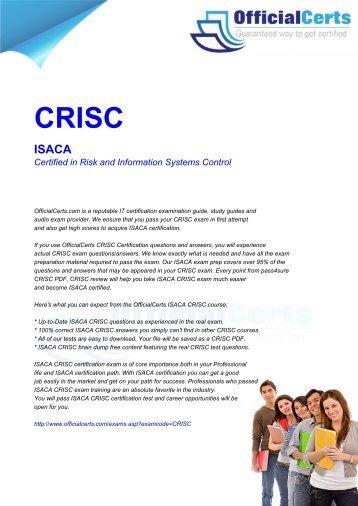 CRISC Exam Questions