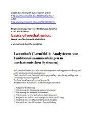 Lexikon-Leseprobe: Begriffe zu Analysieren von Funktionszusammenhaengen in mechatronischen Systemen