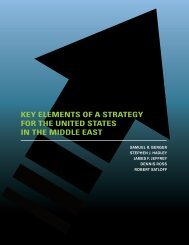 KEY ELEMENTS OF A STRATEGY FOR THE UNITED STATES IN THE MIDDLE EAST
