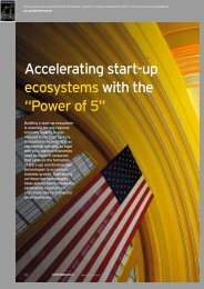 """Accelerating start-up ecosystems with the """"Power of 5"""""""
