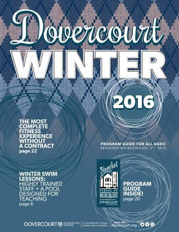 Dovercourt Winter 2016 Program Guide
