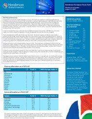 Henderson European Focus Fund - Henderson Global Investors