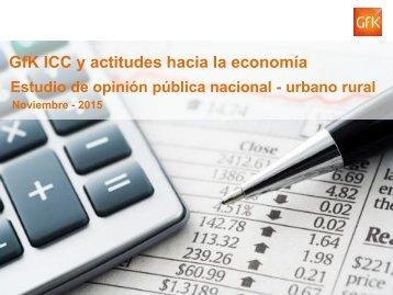 GfK ICC y actitudes hacia la economía