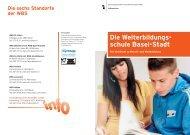 Die Weiterbildungsschule Basel-Stadt (PDF) - Erziehungsdepartement