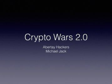 Crypto Wars 2.0
