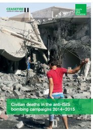 Civilian deaths in the anti-ISIS bombing campaigns 2014–2015