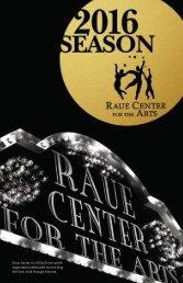 Raue Center Program Book Winter 2016
