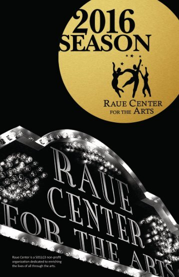 Raue Center Program Book Winter 2016