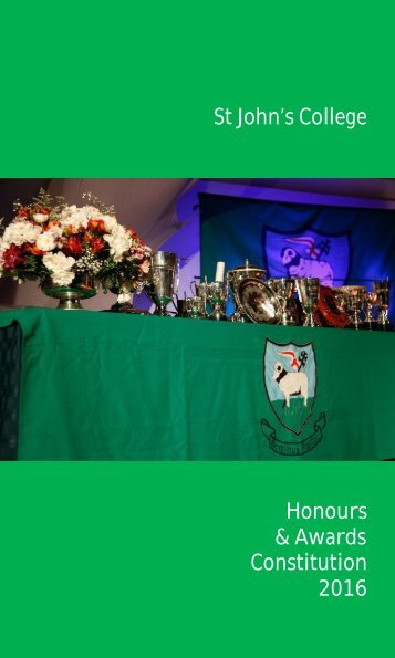 Honours and Awards Constitution 2016