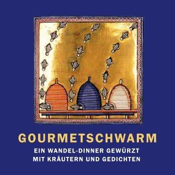 Gourmetschwarm: Ein Wandeldinner gewürzt mit Kräutern und Gedichten - der Flyer 2016