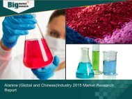 Alanine (Global and Chinese) Industry 2015 Market Trend Analysis