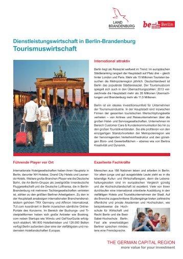 Tourismuswirtschaft in Berlin Brandenburg