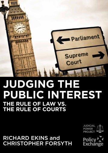 JUDGING THE PUBLIC INTEREST
