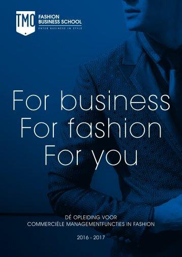 TMO Fashion Business School brochure 2016-2017