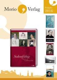 2016 Morio Verlag Frühjahr Katalog