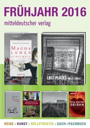 2016 Mitteldeutscher Verlag Frühjahr Katalog