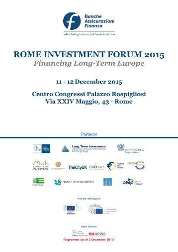 ROME INVESTMENT FORUM 2015