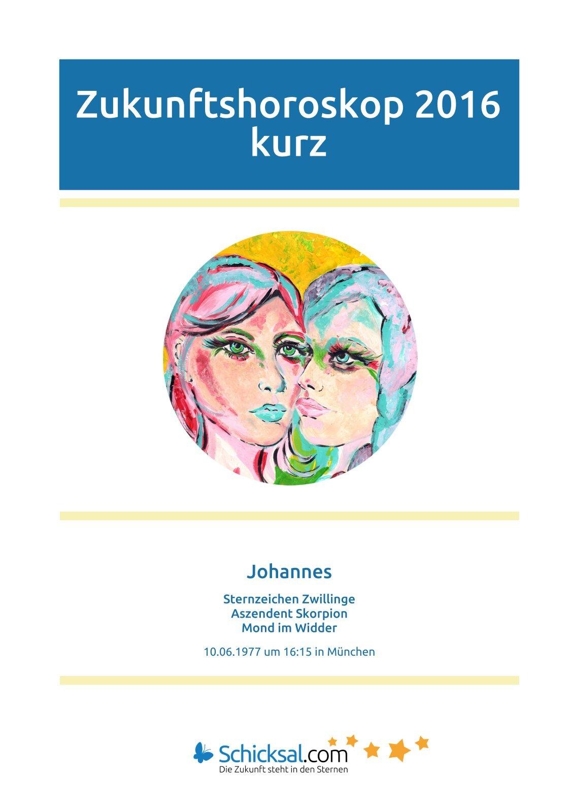 Zwillinge - Zukunftshoroskop 2016 - Kurzform