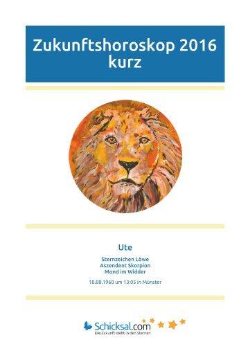 Löwe - Zukunftshoroskop 2016 - Kurzform