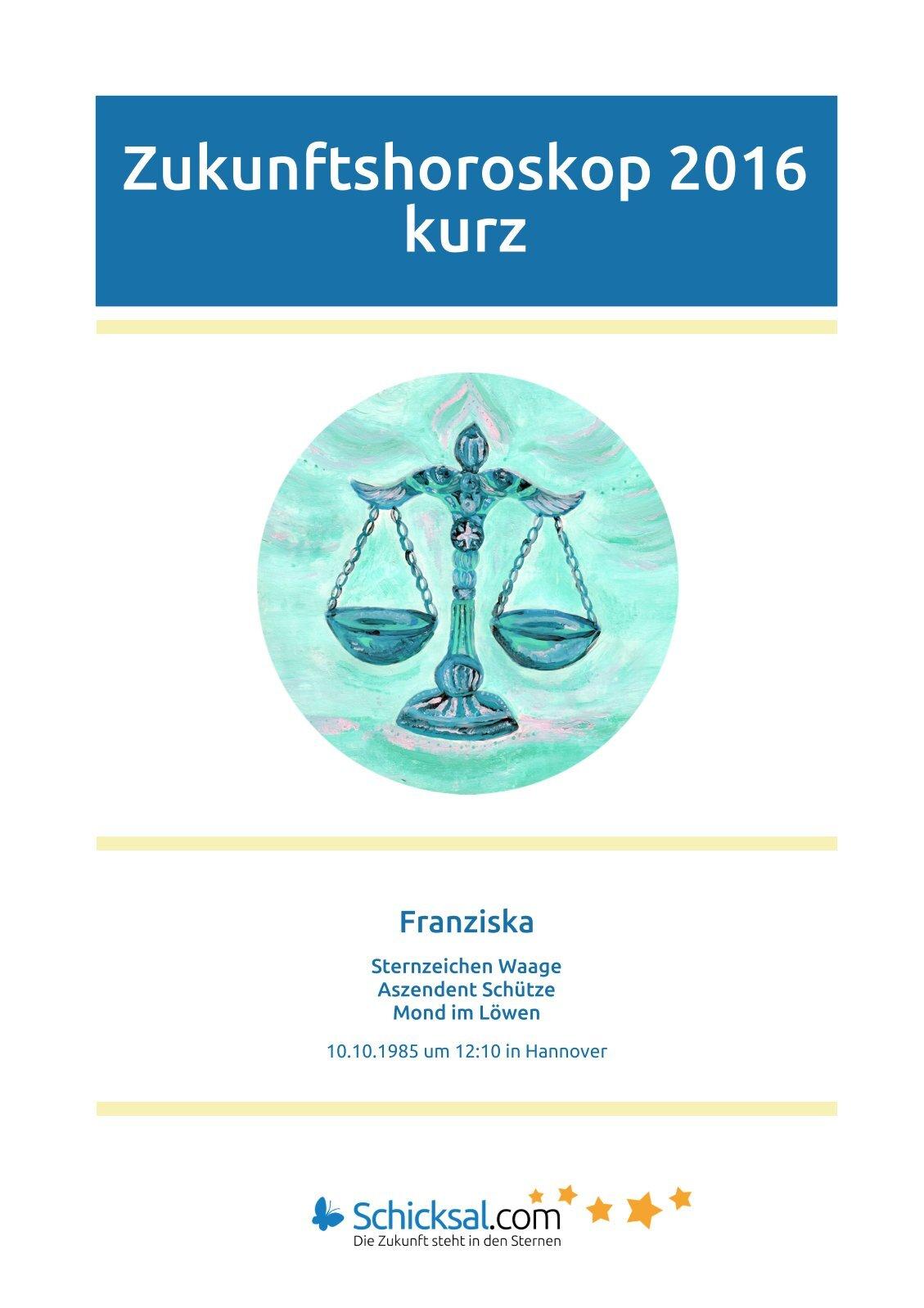 Waage - Zukunftshoroskop 2016 - Kurzform