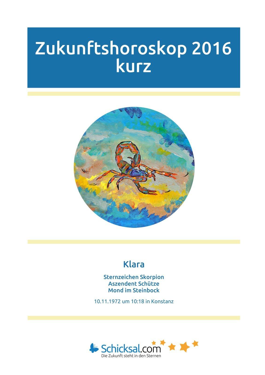 Skorpion - Zukunftshoroskop 2016 - Kurzform